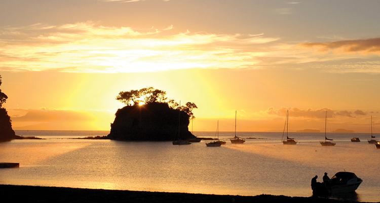 sunset at browns bay warm